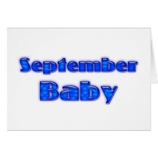 September Baby Greeting Cards