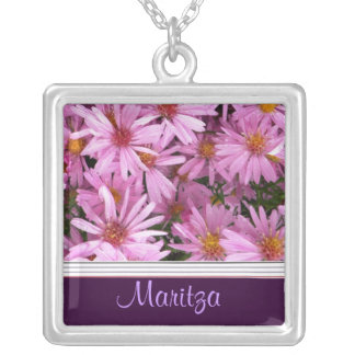 SEPTEMBER Birth Flower Necklace - Aster