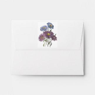 September Birthday Flower Aster Envelopes