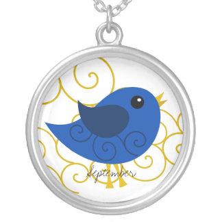September Birthstone Bird Necklace