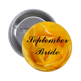 September Bride Buttons