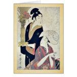 September by Kitagawa, Utamaro Ukiyoe Cards