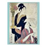 September by Kitagawa, Utamaro Ukiyoe Postcards