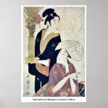 September by Kitagawa, Utamaro Ukiyoe Print