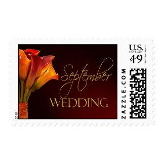 September Calla Lily Wedding Postage