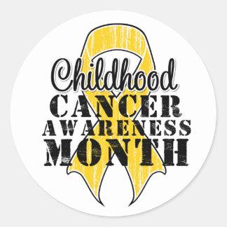 September Childhood Cancer Awareness Month Classic Round Sticker