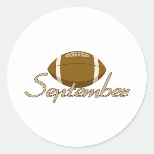 September Classic Round Sticker