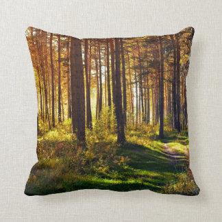 September Forest Throw Pillows