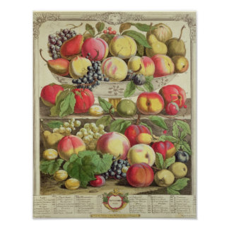September, from 'Twelve Months of Fruits' Poster