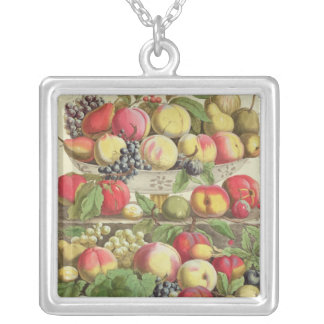 September, from 'Twelve Months of Fruits' Silver Plated Necklace