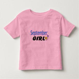 September Girl Toddler T-shirt