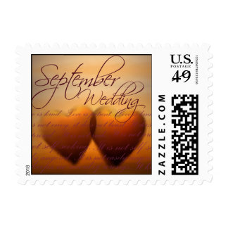 September Heart Wedding Stamps