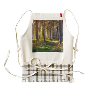 September in the forest.Sunrise in autumn forest Zazzle HEART Apron