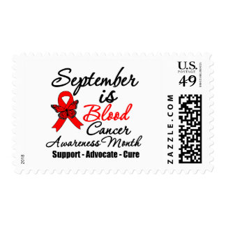September is Blood Cancer Awareness Month v2 Postage Stamps