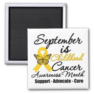 September is Childhood cancer Awareness Month v2 2 Inch Square Magnet