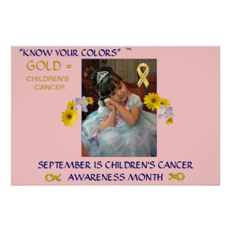 SEPTEMBER IS CHILDREN'S CANCER AWARENESS MONTH POSTER