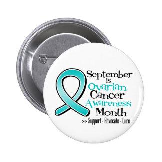 September is Ovarian Cancer Awareness Month Buttons