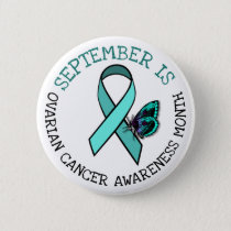 September is Ovarian Cancer Awareness Month Button