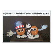 September is Prostate Cancer Awareness month Yard Sign