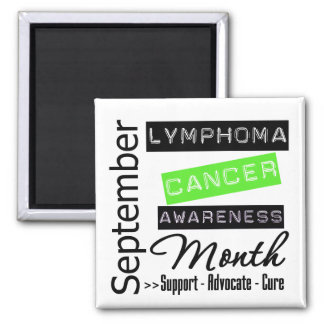 September - Lymphoma  Awareness Month 2 Inch Square Magnet