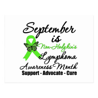 September Non Hodgkins Lymphoma  Awareness Month Postcard