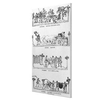 September October November and December Stretched Canvas Prints