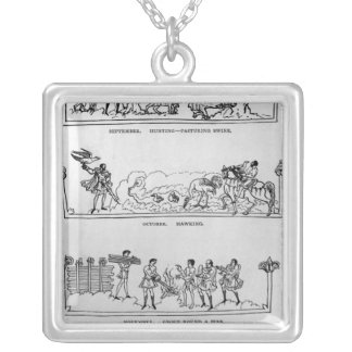 September, October, November and December Silver Plated Necklace
