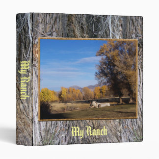 September Pasture In Gold 3 Ring Binder