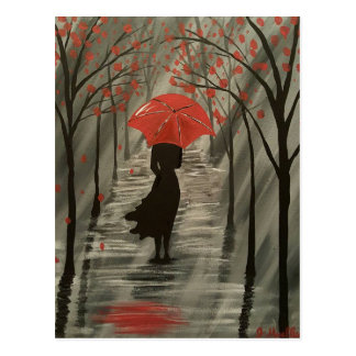 September Rain Postcard