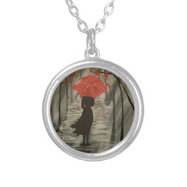 paintingbuzz September Rain Silver Plated Necklace