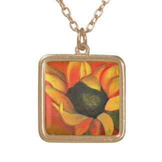 September Sunflower 2011 Gold Plated Necklace