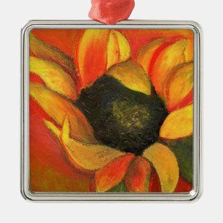 September Sunflower 2011 Metal Ornament