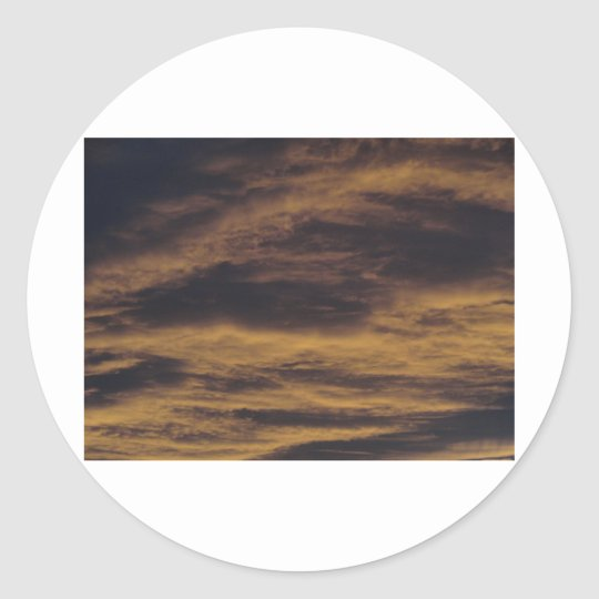 September sunset classic round sticker
