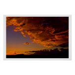 September Sunset over Mt Rose Posters