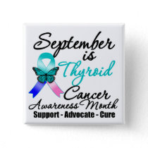 September Thyroid Cancer AWARENESS Month Button