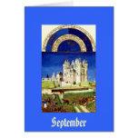 September - Tres Riches Heures du Duc de Berry Greeting Cards