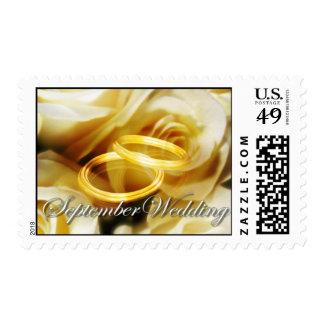 september wedding invitation postage