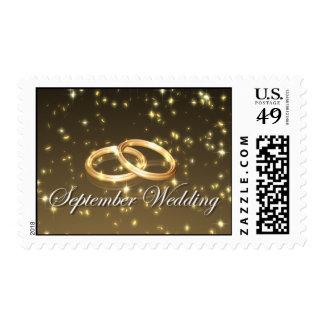 september wedding rings stamp