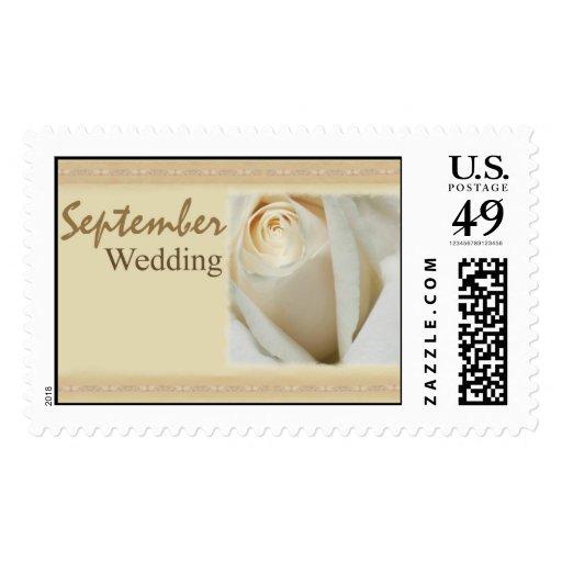 September Wedding Rose Stamp
