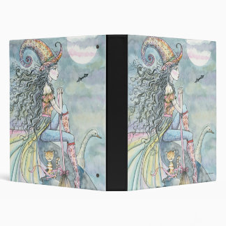 September Wind Witch Cat Goose Art Binder