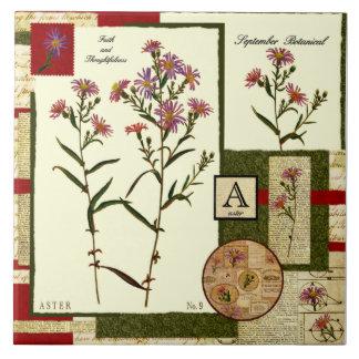 September's Flower Tiles