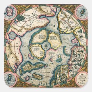 Septentrionalium terrarum descriptio, map of the A Square Sticker