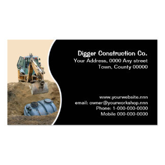 Septic tank installation business card