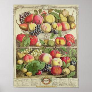 Septiembre, a partir de 'doce meses de las frutas póster