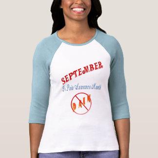 Septiembre es camiseta del mes de la conciencia playeras