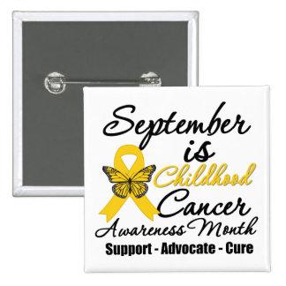 Septiembre es el mes v2 de la conciencia del cánce pin cuadrado