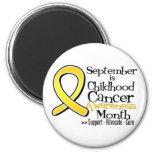 Septiembre es mes de la conciencia del cáncer de l imán para frigorifico