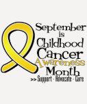 Septiembre es mes de la conciencia del cáncer de camisetas
