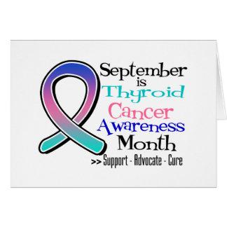 Septiembre es mes de la CONCIENCIA del cáncer de t Tarjeta De Felicitación