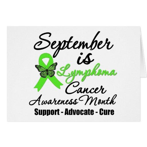 Septiembre es mes de la conciencia del linfoma felicitación